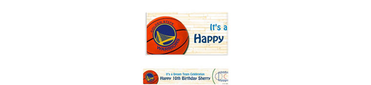 Golden State Warriors Custom Banner 6ft