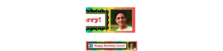 Custom A Year to Celebrate 30th Birthday Photo Banner 6ft