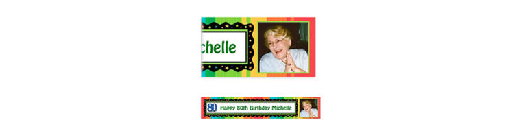 Custom A Year to Celebrate 80th Photo Banner 6ft