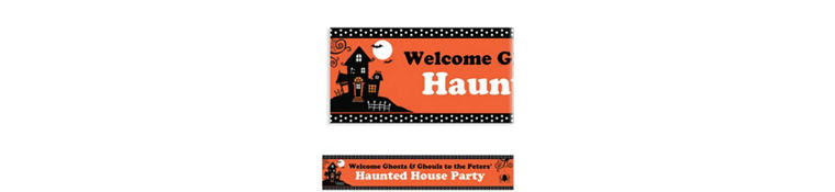 Frightfully Fancy Halloween Custom Banner