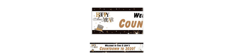 Custom Elegant Celebration New Year's Banner 6ft
