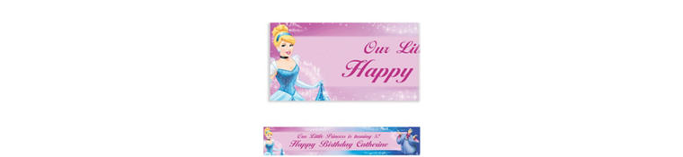 Cinderella Custom Banner 6ft