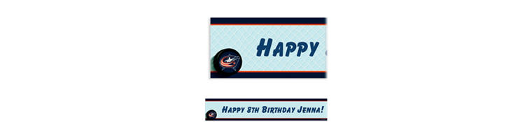 Columbus Blue Jackets Custom Banner