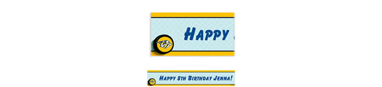 Nashville Predators Custom Banner