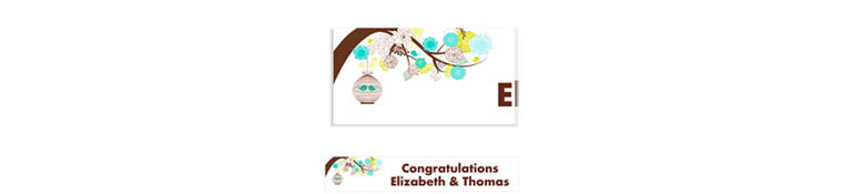Lovebird Cages Custom Bridal Shower Banner