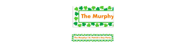 Custom Shamrock Shimmer St. Patrick's Day Banner 6ft