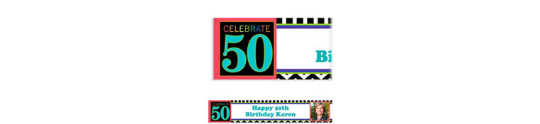 50th Celebration Custom Photo Banner