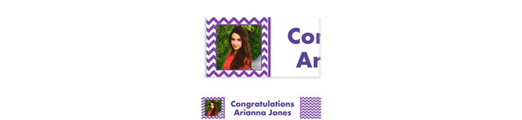 Custom Purple Chevron Photo Banner 6ft