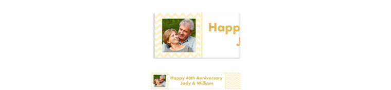 Custom Vanilla Chevron Photo Banner 6ft