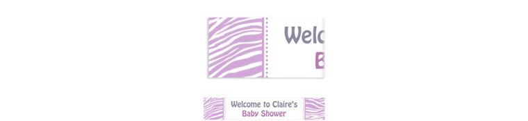Custom Lavender Zebra Banner 6ft
