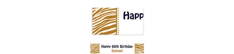 Custom Gold Zebra Banner 6ft