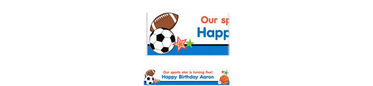 Play Ball Party Custom Banner