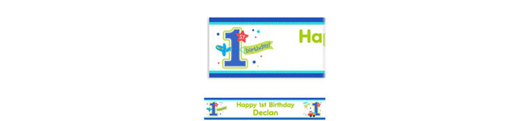 Custom All Aboard Birthday Banner 6ft