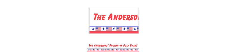 Patriotic Party Custom Banner