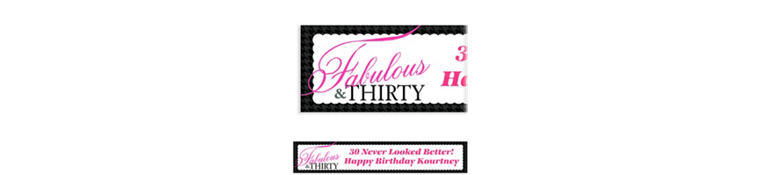 Custom Fabulous & Thirty Banner 6ft
