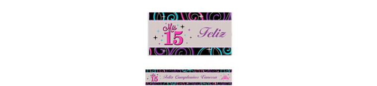 Custom Mis Quince Anos Banner 6ft