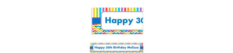 Custom Birthday Bright Banner 6ft