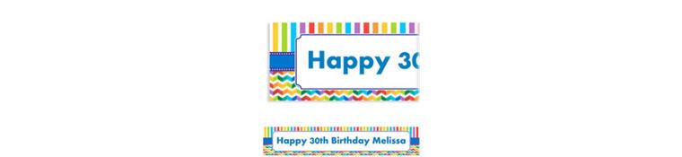 Custom Birthday Bright Banner 6ft