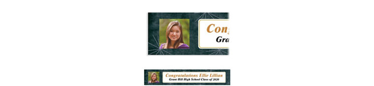 Custom Fireworks Script Graduation Photo Banner