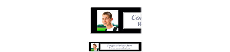 Custom Classic White Graduation Photo Banner