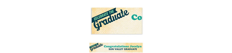 Custom Retro Graduation Banner