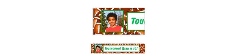 Custom Football Ticket Photo Banner