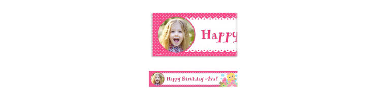Custom Woodland Fairy Photo Banner