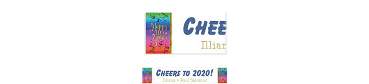 Custom Colorful Happy New Year Banner