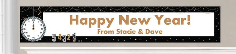 Custom New Year's Eve Banners