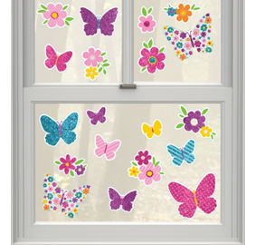 Spring decorations butterfly decorations party city - Window decorations for spring ...