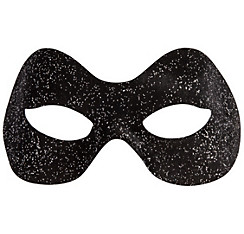 Glitter Black Domino Mask