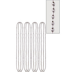 Silver Bead Necklaces 32in 8ct