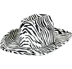 Zebra Print Cowboy Hat
