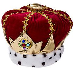 Adult Velvet King Crown