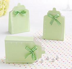 Pastel Green Bottle Baby Shower Favor Box Kit 24ct
