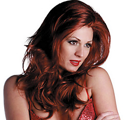 Vixen Premium Long Sangria Red Wig