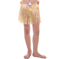 Child Plastic Mini Hula Skirt