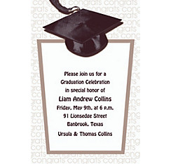 Custom White Congrats Grad Invitations