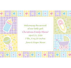 Custom Baby's Nursery Birth Announcements
