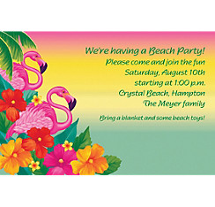 Flamingo Beach Custom Invitation