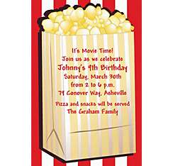 Fresh Popcorn Custom Hollywood Invitation