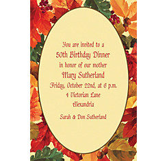Elegant Leaves Custom Invitation