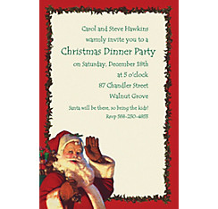 Jolly St. Nick Custom Christmas Invitation
