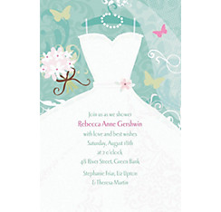 Something Blue Custom Bridal Shower Invitation