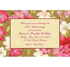 Elegant Bouquet Custom Invitation