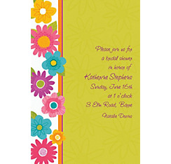 Custom Spring Fling Invitations
