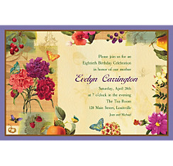 Le Jardin Custom Invitation
