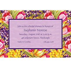 Tulips Custom Invitation
