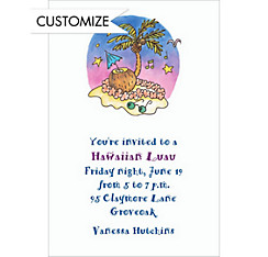 Tropical Party Custom Invitation