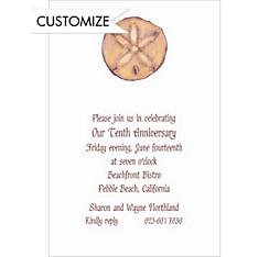Sand Dollar Custom Wedding Invitation